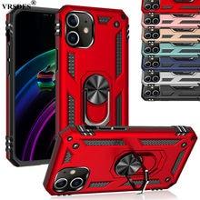Luksusowy pancerz odporny na wstrząsy futerał na iPhone 12 Mini 12Pro 12 SE 2 2020 XR XS Max X 11 12 Pro Max 6.7 pierścień uchwyt magnes pokrywa
