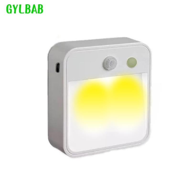 Led Night Light Mini Light With Pir Motion Sensor Control Battery Under Cabinet Light Battery Sensor Night Light Battery Powered