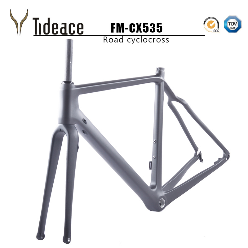 2019 Carbon Cyclocross Frameset 700*42C Aero Cyclocross Bicycle Carbon Frames Flat Mount Disc Brake Thru Axle 142mm