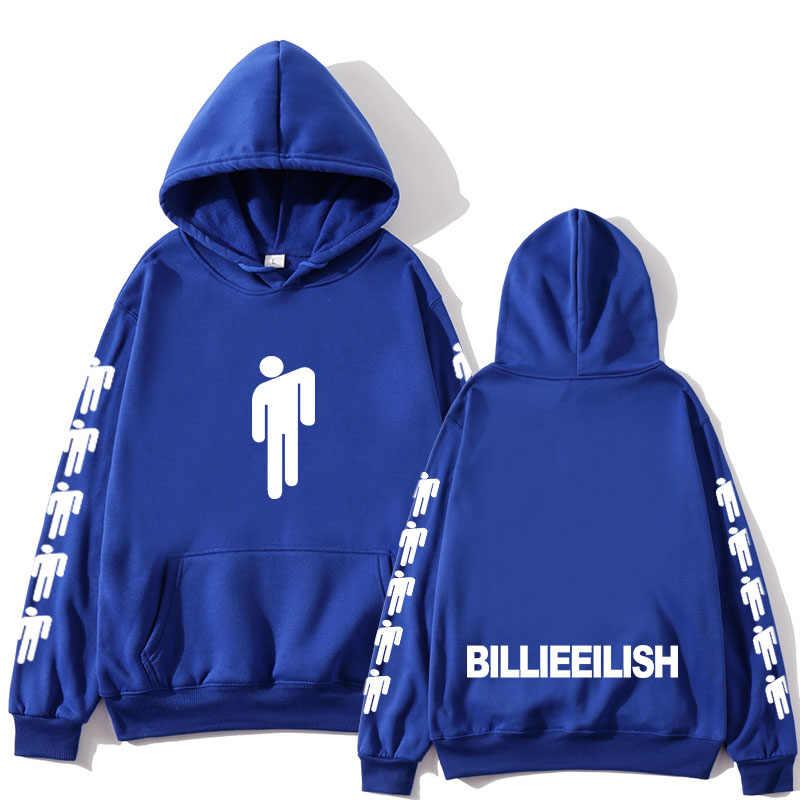 Billie Eilish moda baskılı Hoodies kadınlar/erkekler uzun kollu kapüşonlu eşofman üstü 2019 sıcak satış rahat moda Streetwear Hoodies