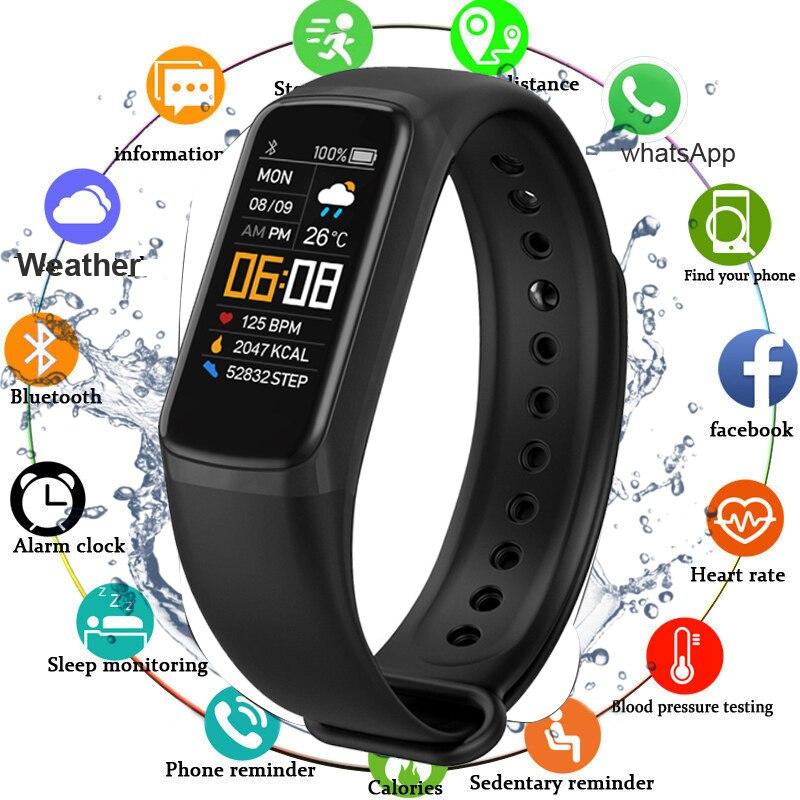 Smart Bracelet Heart Rate/Blood Pressure Monitor Fitness Bracelet Waterproof Sleep Tracker Smart Band Watch For Men Women Kids|Smart Wristbands| - AliExpress