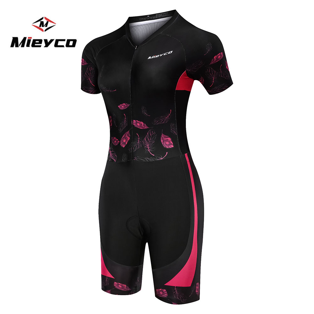 Pro Team Triathlon Suit Women's Cycling Short sleeve Jersey Skinsuit Jumpsuit Maillot Cycling Ropa ciclismo set Running swimming