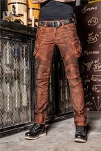 UGLYBROS UB028 Retro Vintage Orange Black Jeans Motorcycle Pants Protection moto Jeans Mens Cycling Pants