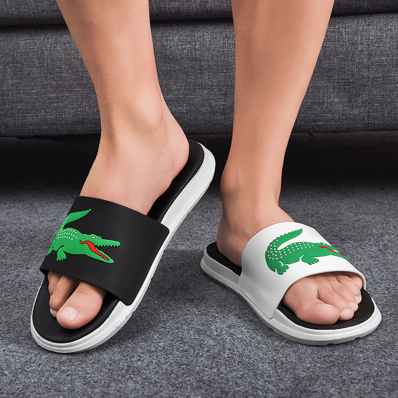 Fashion Animals Printed Men Slippers Casual Non-slip Slides Shoes For Couple Summer Beach Sandals Soft Sole Flip Flops Claquette