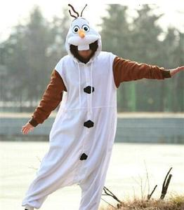 Image 1 - kigurumi Anime Adult Snowman Costume Pajamas Cosplay Jumpsuit Adult Pyjamas Party Dress