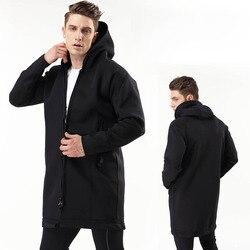 2mm Neopren thermische tauchen jacke windjacke outdoor winter Lang mit kapuze jacke männer wasserdicht winddicht bergsteigen mantel