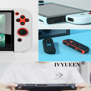 Image 5 - IVYUEEN funda dura protectora colorida para consola Nintendo Switch NS, funda trasera para Nintendo Switch Joy Con