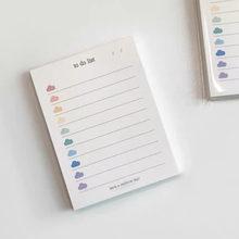 Coreano ins bonito colorido nuvens para fazer lista 50 folhas planejador estudante longo estilo nota papel almofada papelaria material escolar
