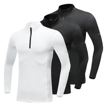 New Men's Running Quick Dry Running Shirt Weightlifting Compression Shirt Long Sleeve Top Gym T Shirt Tight Fitness Rashgard new quick dry running shirt men bodybuilding sport t shirt long sleeve compression top gym t shirt men fitness tight rashgard
