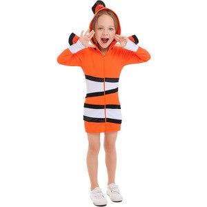 Image 4 - ピエロ魚衣装両親と子供海テーマパーティーコスプレ布幼稚園休日のパフォーマンス衣装