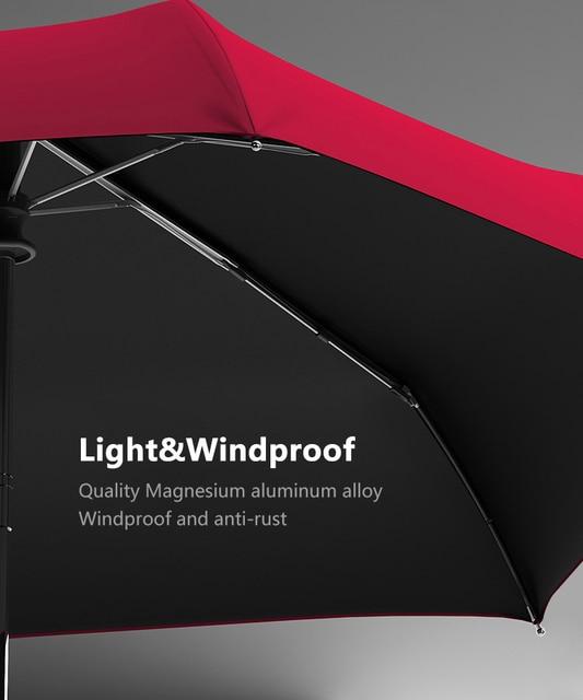 Xiaomi Flat Automatic Umbrella Rain Women Ultralight Travel Sun Umbrella Girls Anti UV Portable Folding Umbrellas 6 Ribs Parasol 6