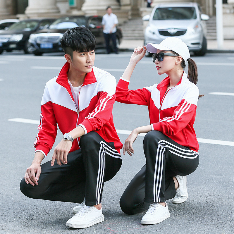 2019 Customizable Spring Young STUDENT'S School Uniform Middle And High School Students Business Attire Autumn Sports Set Kinder