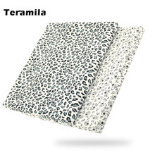 Leopard printed 100% black cotton fabric quilting patchwork