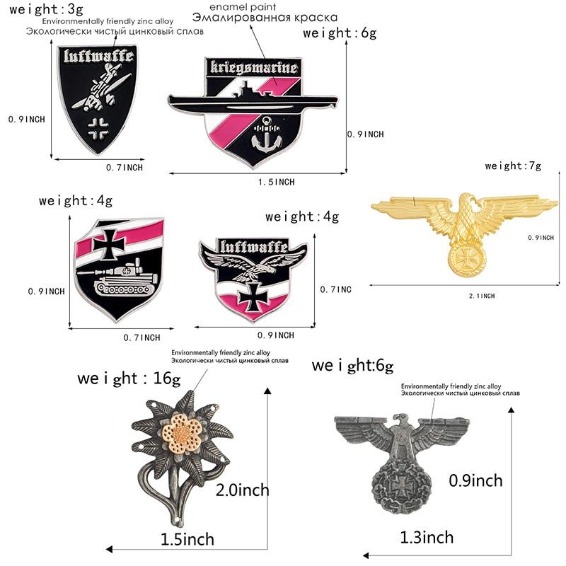 Немецкая военно-морская армия, военно-воздушные силы, булавка, танк, Воздушный самолет, линкор, эмалированные броши для одежды, сумки, орла, нагрудные значки, Винтажные Ювелирные изделия, подарок
