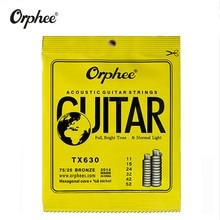 Orphee TX630 011-052 Acoustic Guitar Strings Hexagonal core+8% nickel Bronze Bright tone Extra light guitar Accessories ghs strings bb10u bright bronze