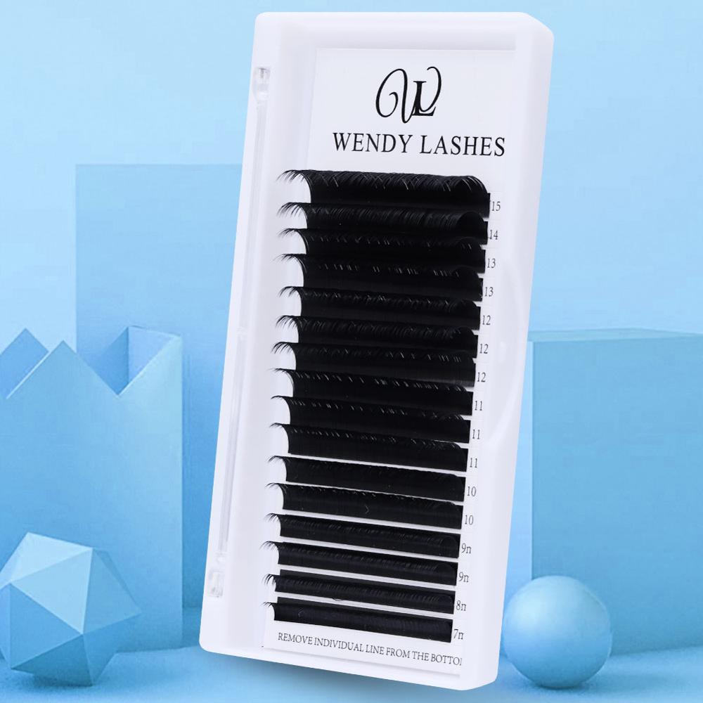 16 Rows Individual Eyelash Extension Faux Mink Eyelashes Thick Natural False Eyelashes Mink Classic Eyelash Extension Cilia