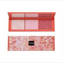 Novo pó de maquiagem blush alta luz placa de uma peça aparamento biying sombra em pó clarear brilho t1421 coreano blush