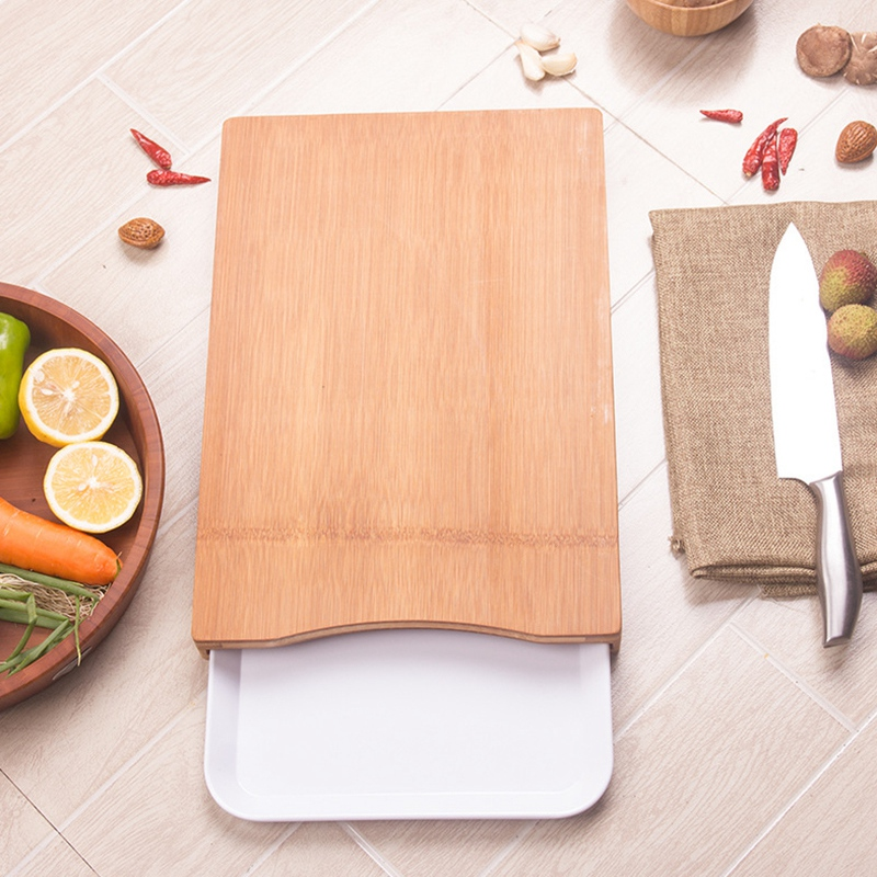 HHO Kitchen Cutting Board with Drawer Vegetable Meat Tools Kitchen Accessories Chopping Board Chopping Blocks     - title=