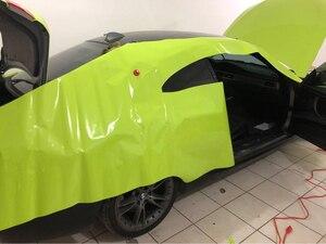 3 capas de película de vinilo verde lima Ultra brillante hoja de envolver el coche sin burbujas Tamaño del envoltorio del coche: 1,52*20m