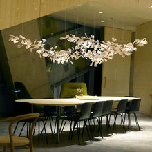 Modern Branches Chandeliers Light With Porcelain Leaves Interior Home Decor Luxury Chandelier Lighting Suspension hanging lamp