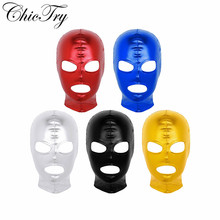 Headgear Mask Hood Open-Mouth Cosplay Adult Women Mens Male Game Punish Slave Lingerie