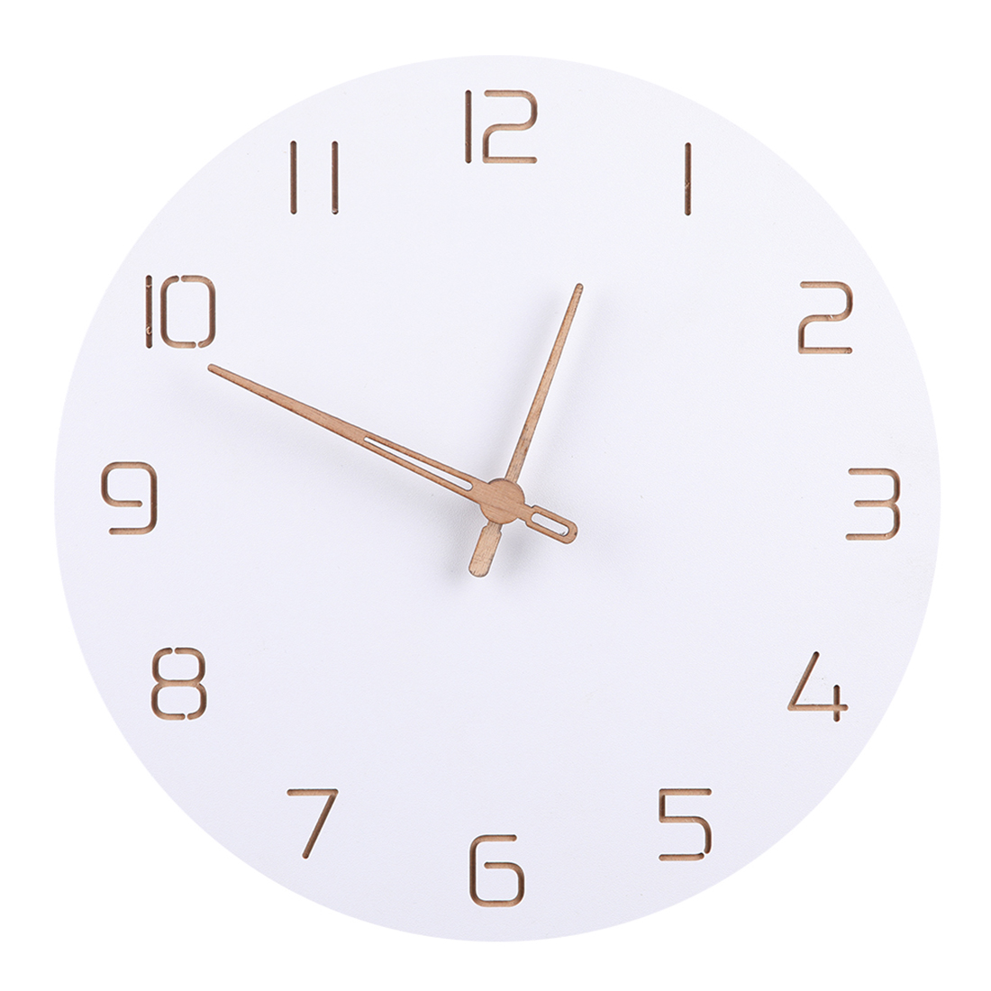 Nordic Style Fashionable Simple Silent Wall Clocksfor Home Decor Pure White Type Wall Clock Quartz Modern Design Timer