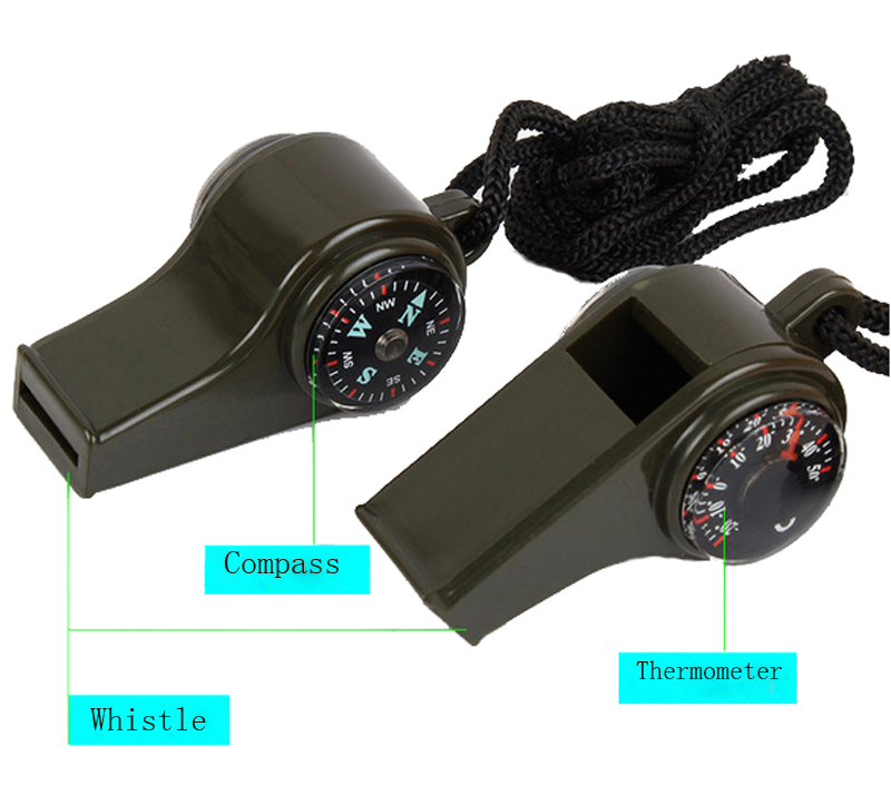 3 In1 Outdoor Camping Hiking Emergency Whistle Compass Thermometer Y Survival Whistle Keychain For Camping Hiking 2020