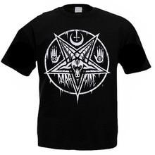men T-Shirt PENTAGRAM BAPHOMET Satan Swedish Music Group. A metal nation male top tees cotton tshirt black summer tops sbz103