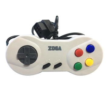 100pcs Japanese 8-bit console style 7Pin Plug Cable  game Controller   GamePad with Turbo A B Button