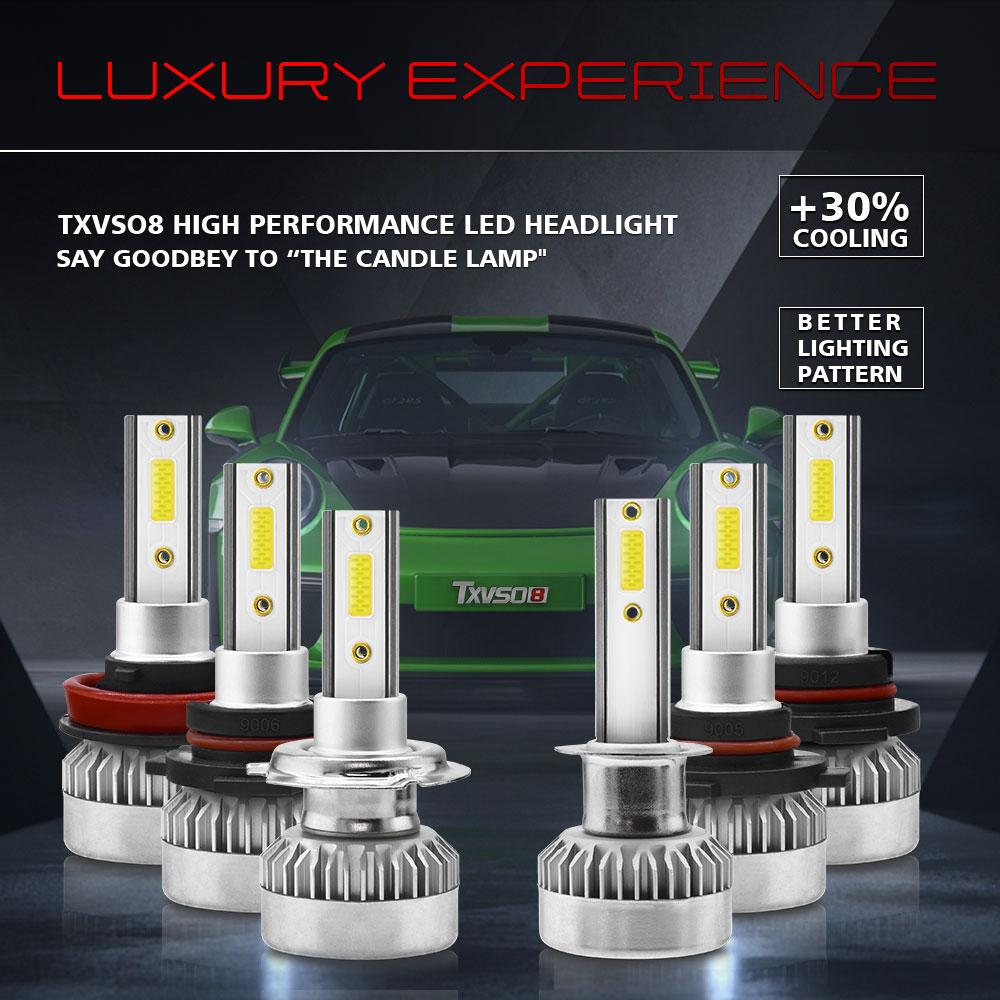 2pcs 12V/24V H1 Led Bulb H1 H7 H8 H9 H11 9005 9006 H12 LED Headlight COB  Auto Car Headlight 60W 8000LM Automobile Lamp.