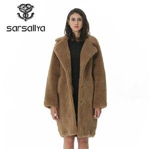 Image 3 - חורף נשים צמר מעיל קשמיר נשי מעיל ארוך תערובות צמר אלגנטי סתיו מעיל לנשים עבה חם פרווה בגדי ילדה 2019