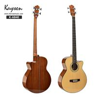 Acoustic Bass Electric Guitar 4 Steel Strings 43 Inches A Shape Spruce Sapele Highgloss Cutaway Pick Up Electro Tuner