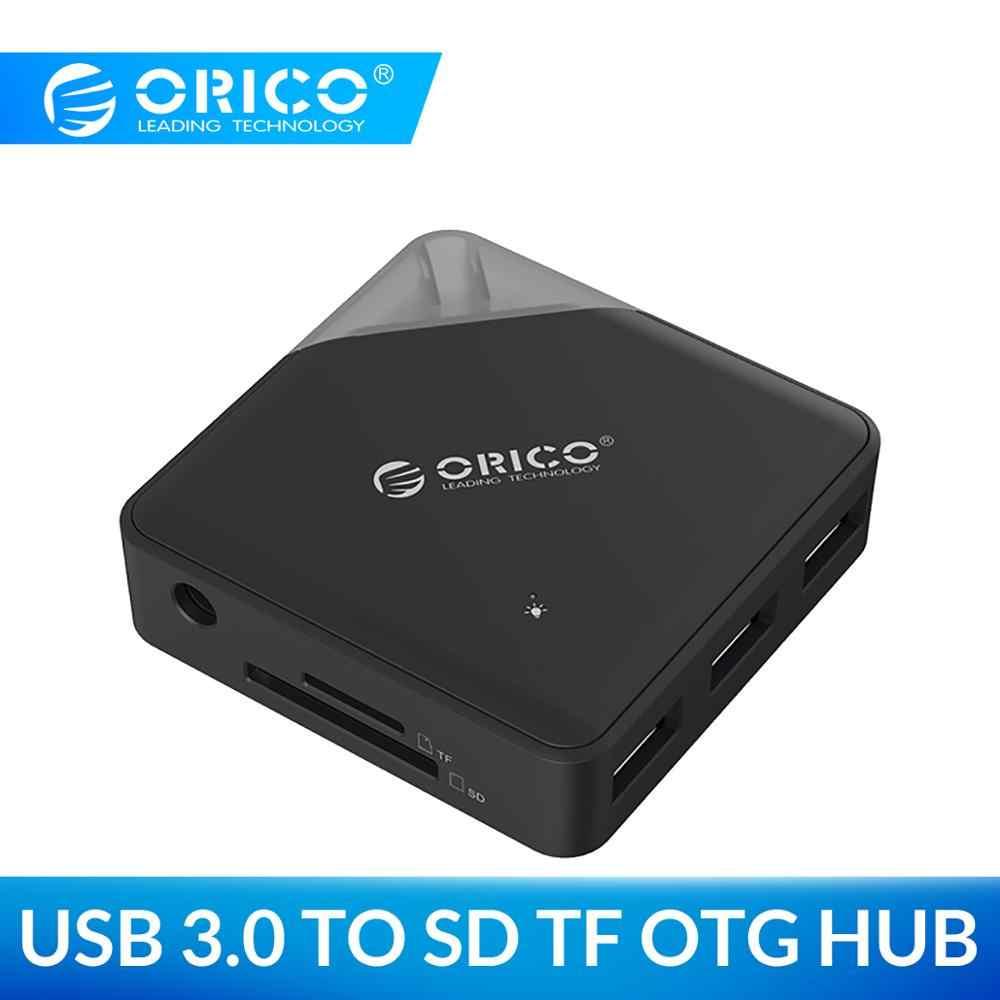 ORICO Multi USB 3.0 HUB SD TF carte lecteur adaptateur Mini USB diviseur Support OTG pour PC ordinateur accessoires d'ordinateur portable