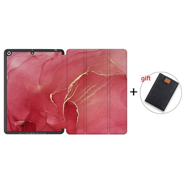 IPTPU05 Black MTT Soft TPU Back Case For iPad 10 2 inch 7th 8th Gen Marble PU Leather