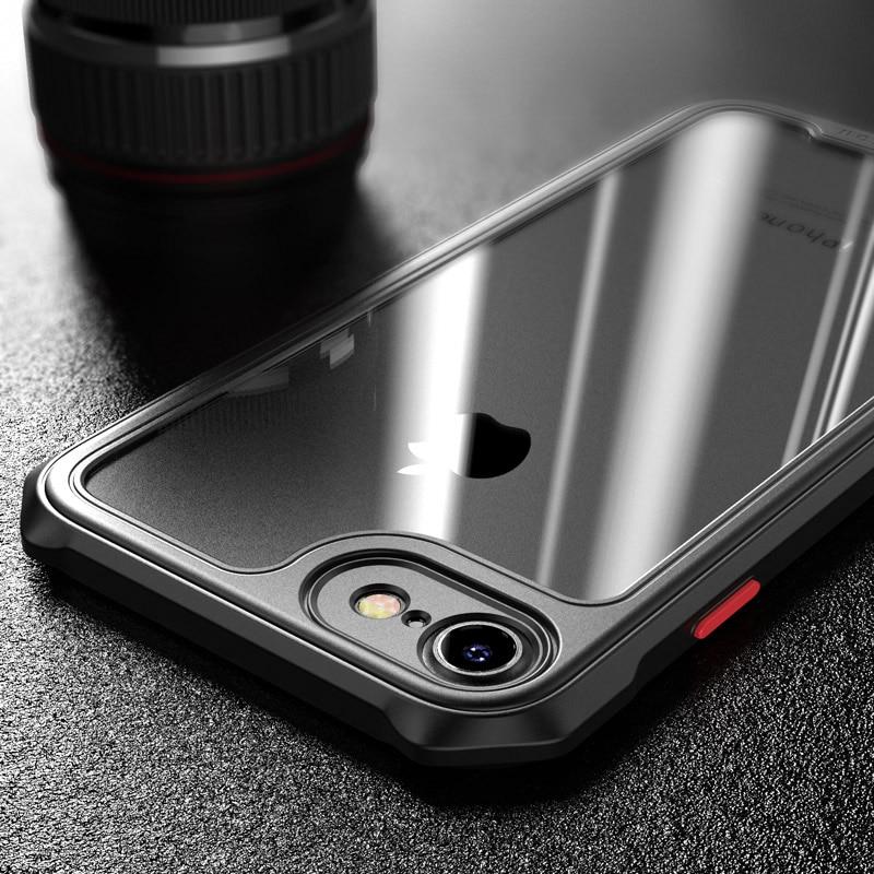 Etui odporne na wstrząsy ITEUU do Apple iphone 7 8 Plus SE 2020 X XS XR etui na telefony przezroczyste tylna pokrywa Coque Fundas 11 PRO MAX