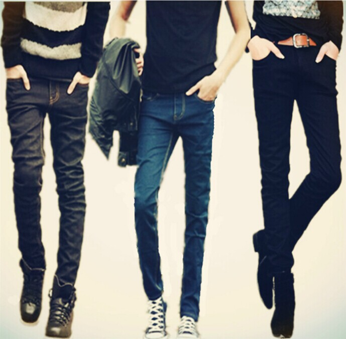 2018 New Style Slim Fit Jeans Korean-style Medium Waist Elasticity Small Feet Long Pants Men's Trend Special Offer