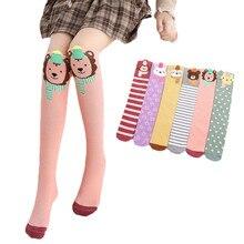 Гольфы для маленьких девочек от 3 до 12 лет зимние теплые хлопковые носки для девочек, зимние теплые носки для маленьких девочек, рождественские гольфы