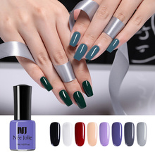 NEE JOLIE 8ml Solid Color Nail Polish Colorful Green Red Purple Long Lasting Art Varnish Beauty Design 12 Colors