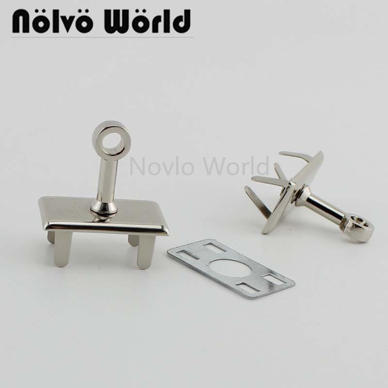 Wholesale 500pcs, 3 Colors Accept Mix Color, Metal Lock Base Bag Purse Lock Base Handbag Lock Diy Hardware Accessories