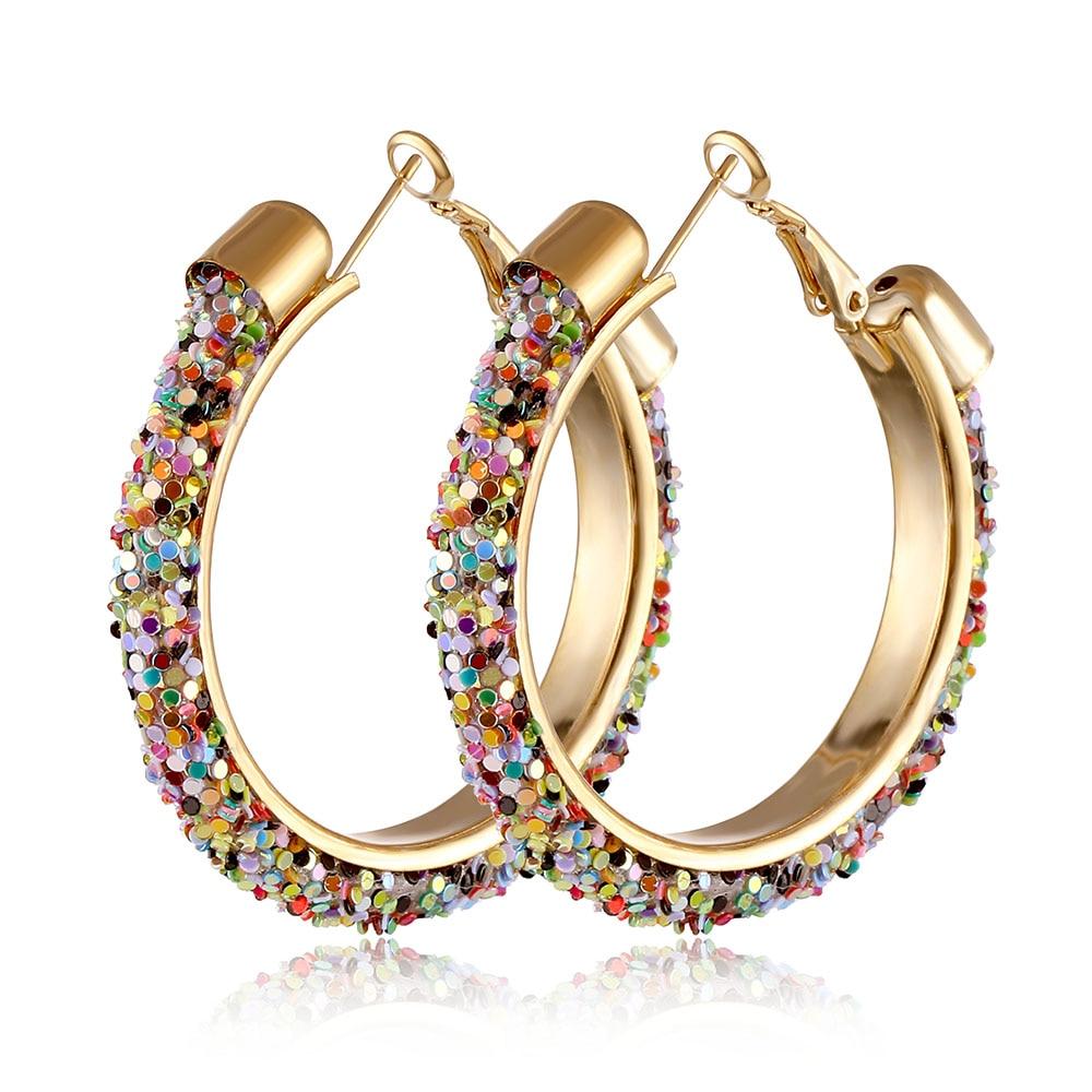 IPARAM, новинка, большие круглые серьги-кольца для женщин, модные, массивные, золотой, в стиле панк, очаровательные серьги, вечерние ювелирные изделия - Окраска металла: IPA0108-6