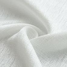 Белые льняные тюлевые занавески для гостиной, отвесные занавески для кухни, современные занавески из вуали, тканевые жалюзи, занавески