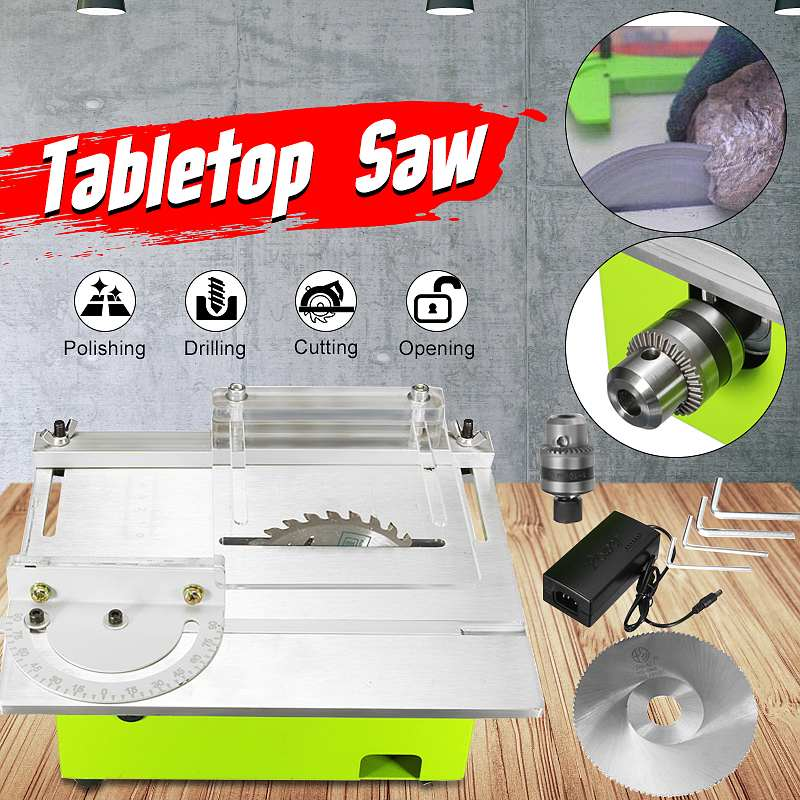 Mini Table Saw Blade Handmade Woodworking Bench Lathe Electric Cutting Grinding Polishing Carving Machine DC 12V 24V