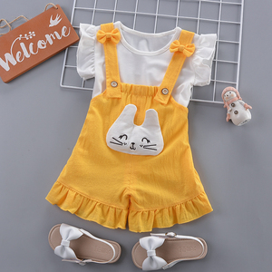 Baby girls clothing set summer newborn baby fashion tops vest+tutu dress 2pcs clothes suit toddler girls party costume sets(China)