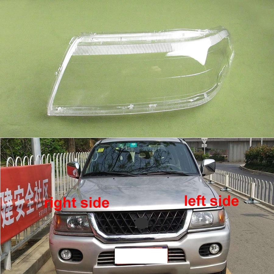 For Mitsubishi Sport Pajero Race Headlight Cover Headlamp Cover Headlight Shell Transparent Lampshade Mask Lens
