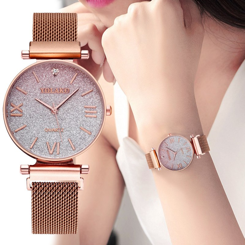 New Starry Sky Watches Casual Fashion Quartz Watch With Magnetic Strap Business Style Wrist Watch For Girls