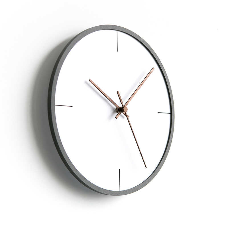 Relojes de pared de oro creativos nórdicos minimalista sala de estar hogar Relojes modernos dormitorio silencioso colgante relojes pared decoración del hogar WKP582