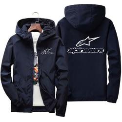 Alpinestars jaqueta blusão masculino 2020 primavera outono nova estrela alpina jaqueta blusão piloto jaqueta com capuz masculino 6xl7xl