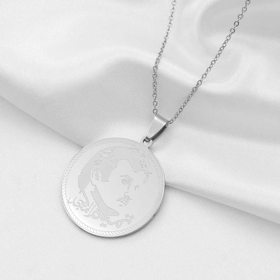 Anniyo katar naszyjniki dla kobiet/mężczyzn złoty kolor/różowe złoto/srebrny ze stali nierdzewnej biżuteria Qatari prezenty #038721
