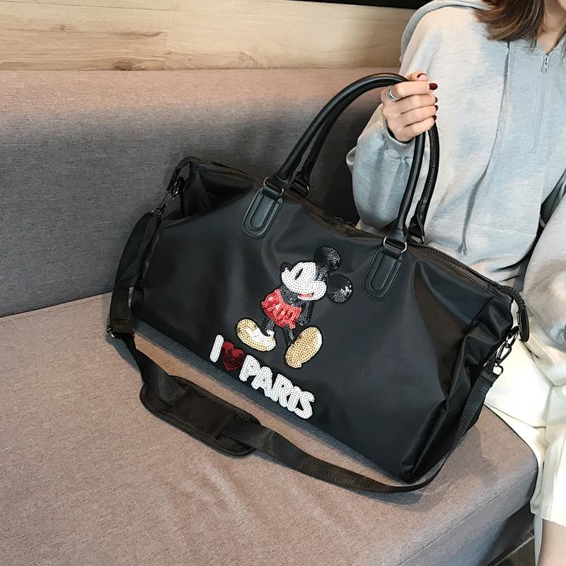 Disney Mickey Mouse Backpack Multi-function Large Capacity Fitness Yoga Bag  Waterproof Men Women Shoulder Bag Travel Bag