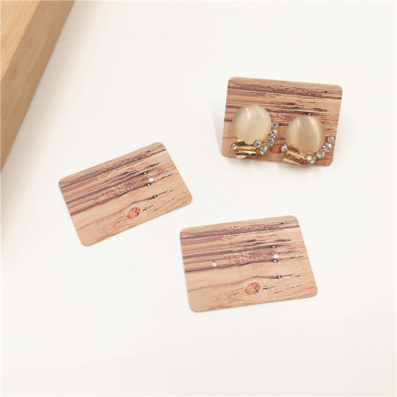 500 Pcs 3.5x 2.5cm Fashion Jewelry Card Earrings Packing Display Card With Stake/Marble/Flamingo Patterns